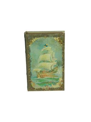 Шкатулка-фолиант Мореплаватели Русские подарки. Цвет: коричневый