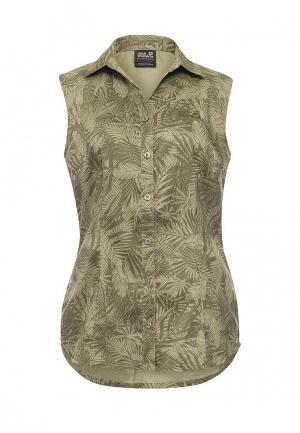 Блуза Jack Wolfskin. Цвет: хаки