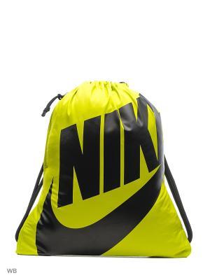 Мешок для обуви NIKE HERITAGE GYMSACK. Цвет: желтый