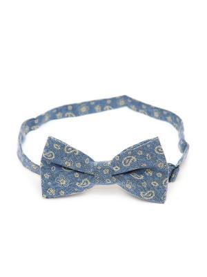 Галстук-бабочка Churchill accessories. Цвет: синий, серо-голубой, голубой, горчичный, желтый