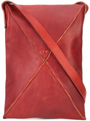 Прямоугольная сумка через плечо Ma+. Цвет: красный