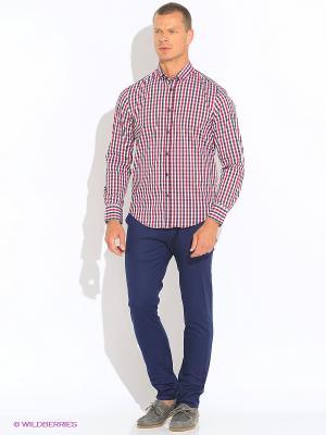 Рубашка Oodji. Цвет: красный, синий