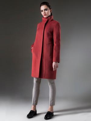 Пальто Pompa. Цвет: терракотовый