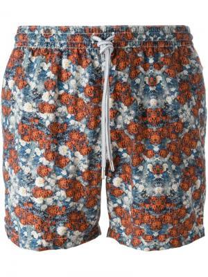 Плавательные шорты с цветочным принтом Capricode. Цвет: многоцветный