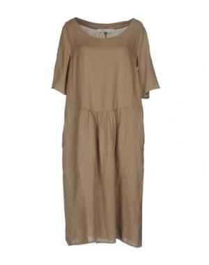 Платье до колена LA FABBRICA del LINO. Цвет: голубиный серый