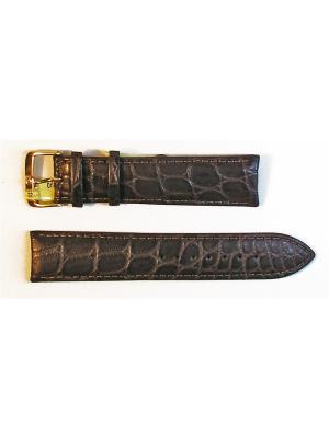 Ремень для часов, Orlando Kroko, нат.крокодил, коричневый, 22 мм Di-modell. Цвет: коричневый