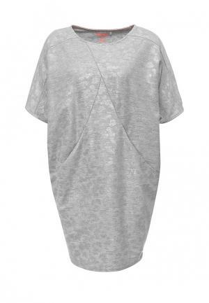 Платье Drywash. Цвет: серебряный