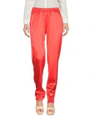 Повседневные брюки SCAGLIONE. Цвет: красный