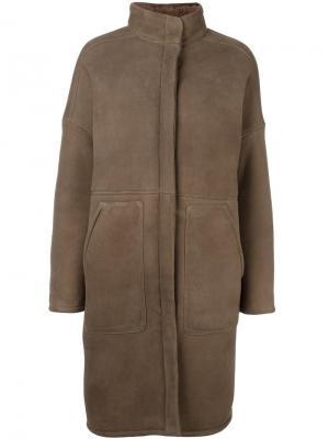 Пальто кроя миди 32 Paradis Sprung Frères. Цвет: коричневый