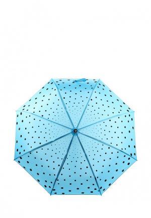 Зонт складной Flioraj. Цвет: голубой
