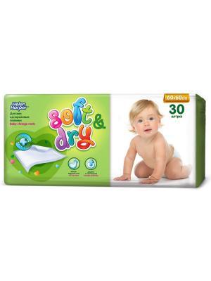 Helen HARPER Пеленки впитывающие детские SOFT&DRY 60X60 30шт. Цвет: темно-фиолетовый