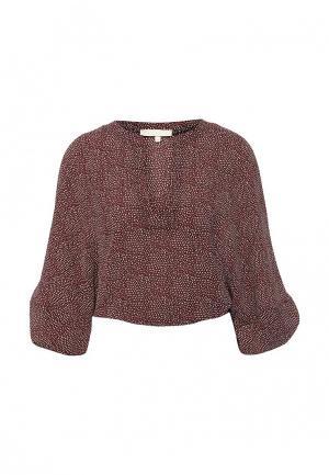 Блуза NewLily. Цвет: бордовый