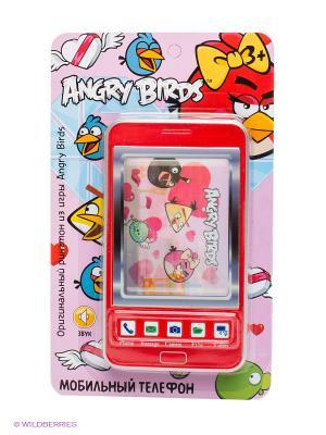 Детский мобильный телефон - Валентинка ANGRY BIRDS. Цвет: красный