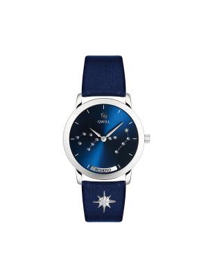 Часы ювелирные лимитированная коллекция Galaxy Scorpio-Скорпион QWILL. Цвет: синий