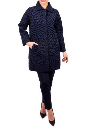 Пальто с отложным воротником D.Exterior. Цвет: сине-черный