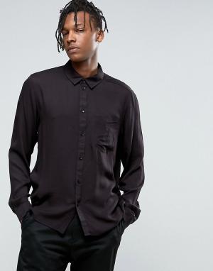 Weekday Рубашка. Цвет: черный