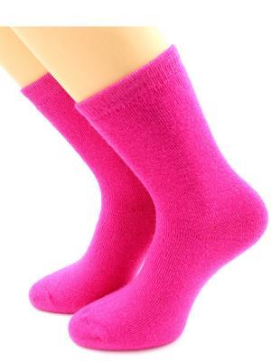 Носки шерстяные HOBBY LINE. Цвет: малиновый