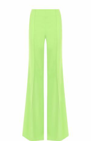 Однотонные расклешенные брюки со стрелками Emilio Pucci. Цвет: зеленый