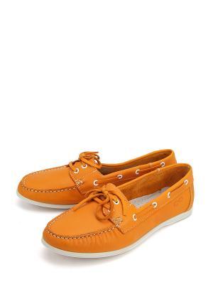 Мокасины ERGO. Цвет: оранжевый