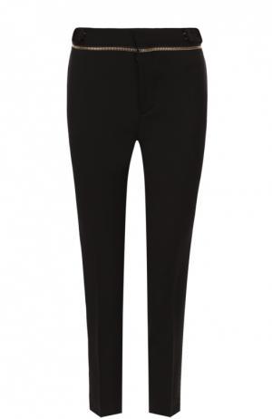 Укороченные брюки-скинни с декоративной молнией Dsquared2. Цвет: черный