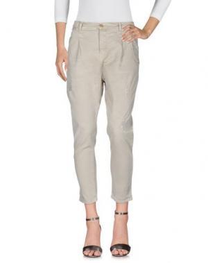 Джинсовые брюки MET & FRIENDS. Цвет: бежевый