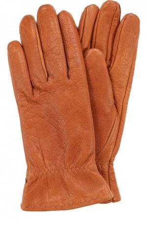 Кожаные перчатки Roeckl. Цвет: коричневый