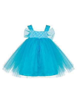 Платье для девочек + ободок Perlitta. Цвет: голубой