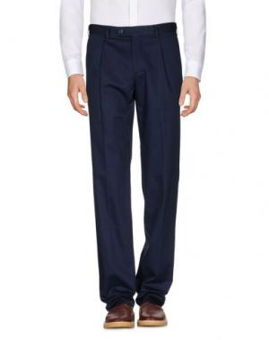 Повседневные брюки LUIGI BIANCHI MANTOVA. Цвет: темно-синий
