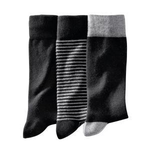 3 пары носков La Redoute Collections. Цвет: в полоску черный