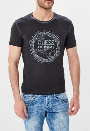 Футболка Guess Jeans. Цвет: коричневый