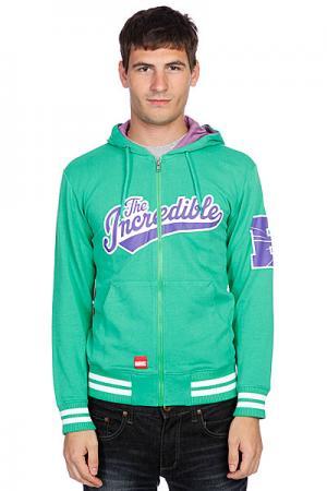 Толстовка  Hulk Zip Hoody Green Addict. Цвет: зеленый
