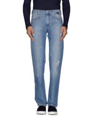 Джинсовые брюки BETWOIN. Цвет: синий