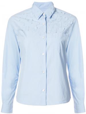 Рубашка с заплатками в виде сердца Jimi Roos. Цвет: синий
