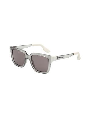 Солнцезащитные очки McQueen. Цвет: серый, темно-серый