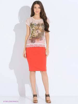 Блузка LUIGI FERRO. Цвет: кремовый