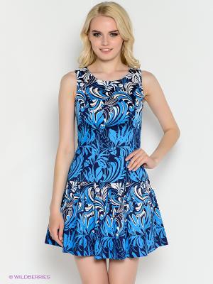 Топ Kira Plastinina. Цвет: голубой, белый, черный