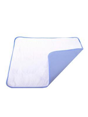 Пеленка для собак многоразовая впитывающая 30*40 см OSSO-fashion. Цвет: светло-голубой