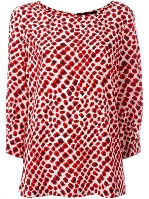 Блузка с узором Steffen Schraut. Цвет: белый