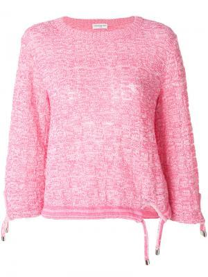 Джемпер со шнурком Veronique Leroy. Цвет: розовый и фиолетовый