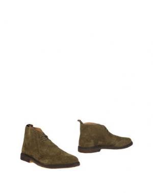 Полусапоги и высокие ботинки STOKTON. Цвет: зеленый-милитари
