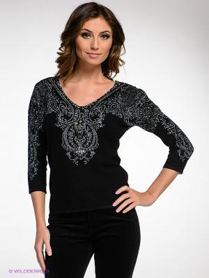 Пуловер IMAGINI. Цвет: черный, серо-голубой
