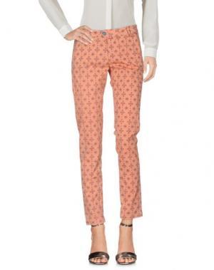 Повседневные брюки BONHEUR. Цвет: абрикосовый