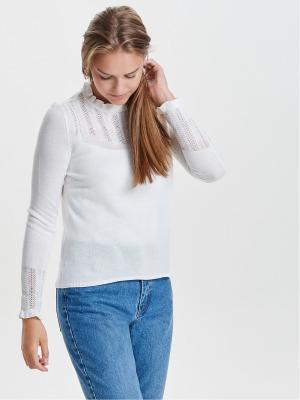 Пуловер ONLY. Цвет: молочный