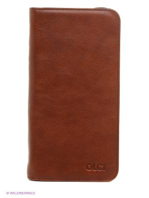 Портмоне Olci. Цвет: светло-коричневый