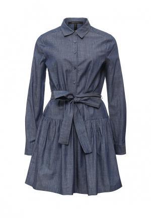 Платье джинсовое BCBGMAXAZRIA. Цвет: синий