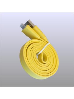 Usb кабель Pro Legend плоский Iphone 5, 6s, 8 pin, 1м,  жёлтый. Цвет: желтый