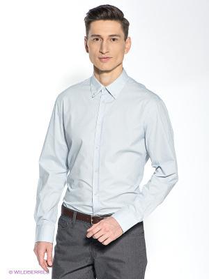 Рубашка INCITY. Цвет: серый, белый