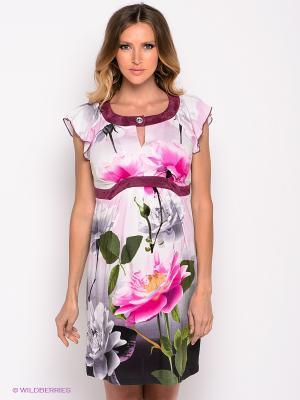 Платье MARY MEA. Цвет: серый, розовый, белый, зеленый