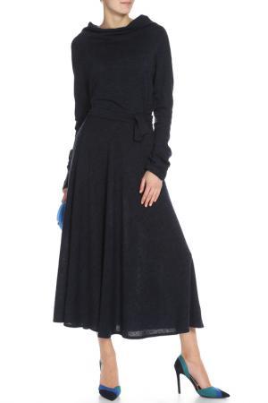 Платье длинное Кокон Ангора Alina Assi. Цвет: темно-синий