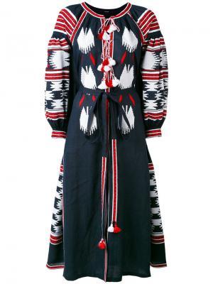 Платье с вышивкой Birds Vita Kin. Цвет: синий